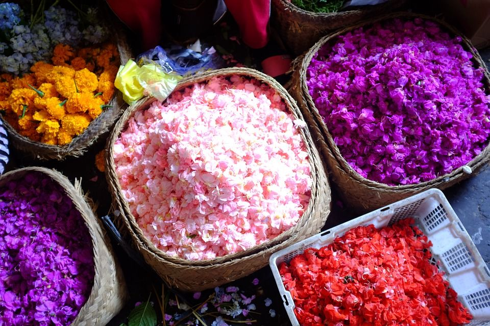 flowers market bali indonesia