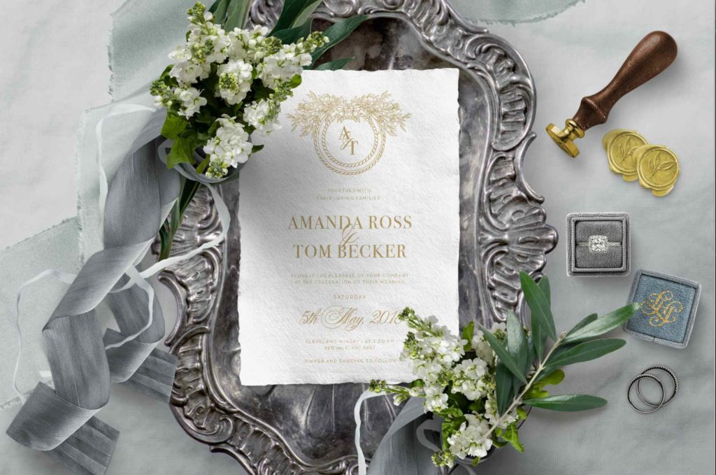 Giant Invitations Monogram | Luxury Wedding Trends 2019 | Beyond Weddings